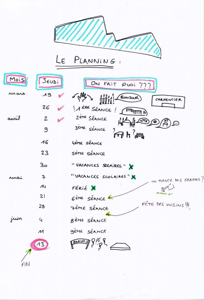 Calais le planning